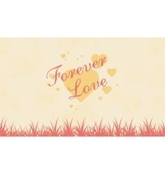 Romance theme landscape for valentine vector image