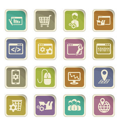 Seo icon set vector