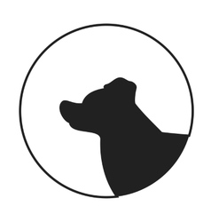 Silhouette of a dog head border collie vector