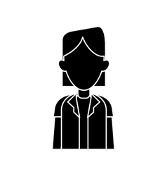 Silhouette woman doctor occupational medical work vector