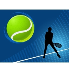 sport background tennis vector image vector image