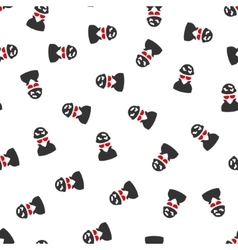 Spotted spy flat seamless pattern vector