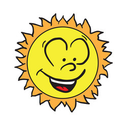 sun smiling vector image