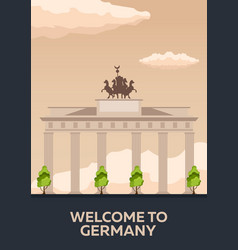 Travel to germany berlin poster skyline vector
