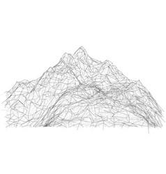 wireframe polygonal landscape vector image vector image