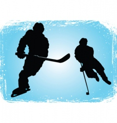 Hockey players on the ice vector