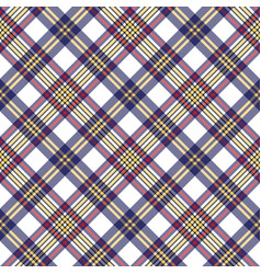 White blue pixel check seamless plaid pattern vector