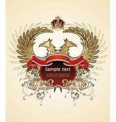 heraldic sign vector image