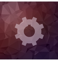 Gear in flat style icon vector