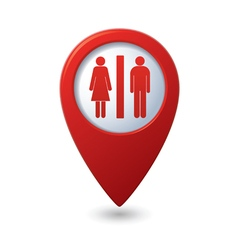Map pointer with man and woman icon vector