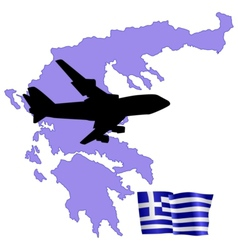 Fly me to the greece vector