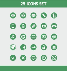 25 icons set vector image