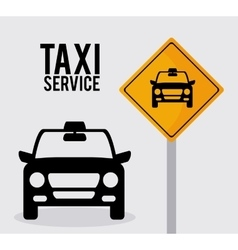 Car taxi icon public transport design taxi cab vector