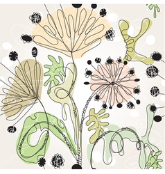 Floral scribble vector