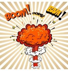 Boom of Comic  Pop Art style vector image