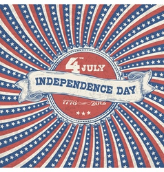 Independence day vintage poster vector