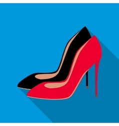 High heel shoes icon flat style vector