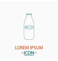 Milk bottle computer symbol vector