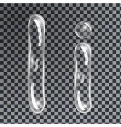 Bubbles letters i vector