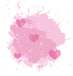 Abstract watercolor spot background with pink vector