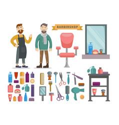 barbershop hair salon vector image