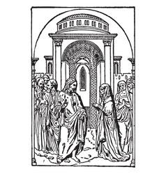 Bas-relief at regensburg by peter vischer is vector