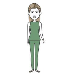Beautiful businesswoman avatar character vector