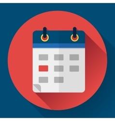 Calendar or mobile app organizer icon vector