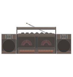 cassette player retro music tape vintage audio vector image vector image