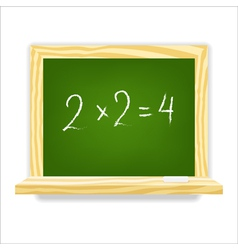 Class chalkboard vector image vector image