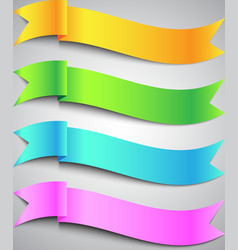 Colorful Ribbon Banner vector image vector image