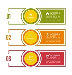Comparative chart with banner vector image vector image