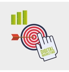 Digital Marketing design Ecommerce icon Isolated vector image vector image