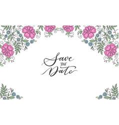 Flower design ornament frame vector
