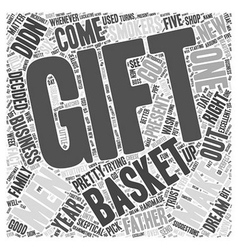 Gift baskets for men word cloud concept vector
