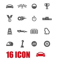 grey racing icon set vector image vector image