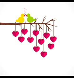 happy valentine day or loving bird greeting design vector image vector image
