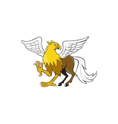Hippogriff prancing isolated cartoon vector