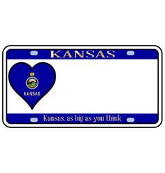 Kansas state license plate vector