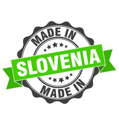 Made in slovenia round seal vector