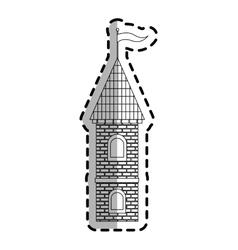 medieval cartoon icon vector image vector image