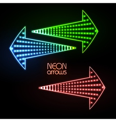 Neon arrows vector image