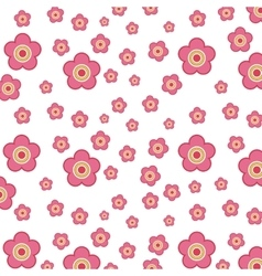 Pink flowers design vector