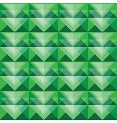 Seamless green triangle pattern design vector