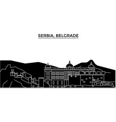 serbia belgrade architecture city skyline vector image