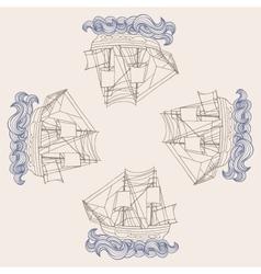 Ship pattern vector