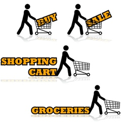 Shopping cart vector image vector image