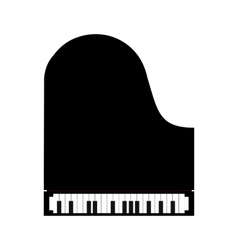 Simple black piano icon vector image