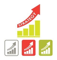 strategy success graph vector image