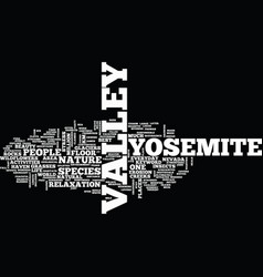 Yosemite view lodge text background word cloud vector